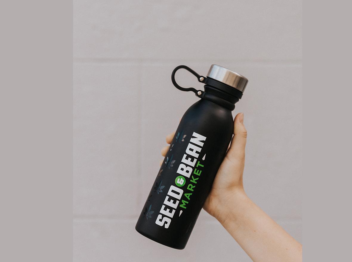 Black Thermal Bottle (loop)