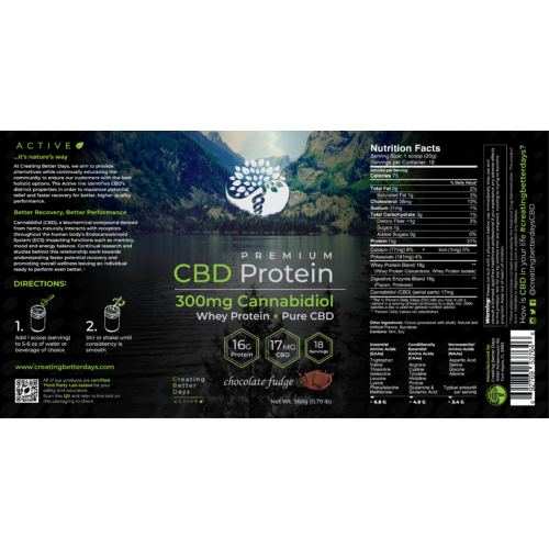 Creating Better Days CBD Whey Protein Chocolate