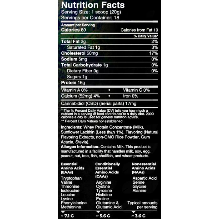 Creating Better Days CBD Whey Protein Chocolate