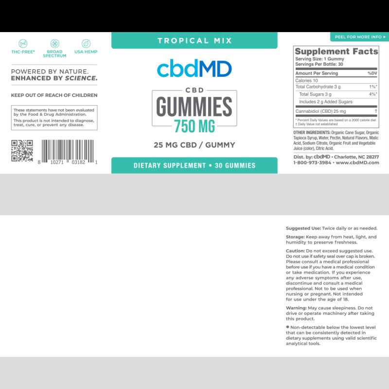 cbdMD Gummies 750mg