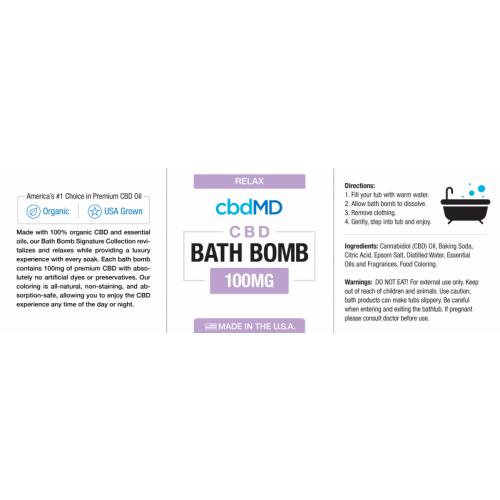 cbdMD Lavender Bath Bomb (Relax)