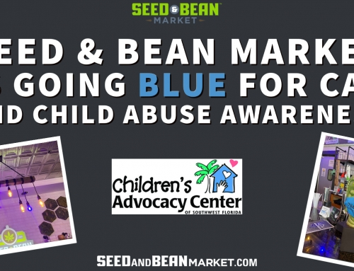 Seed & Bean Market Goes Blue for CAC and Child Abuse Prevention Month